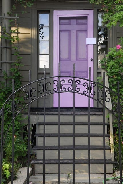 Purple front door meaning paint your door puprle pretty Gray front door meaning