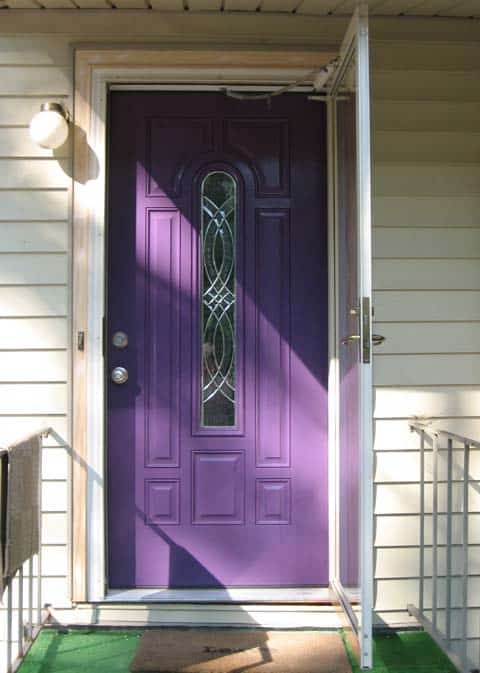 purple front door meaning paint your door puprle pretty