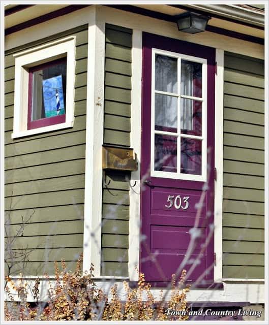 Purple Front Door Meaning Paint Your Door Puprle Pretty