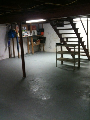 Painting the Basement Floor