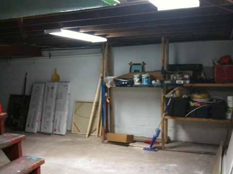 Let there be light! In the basement…