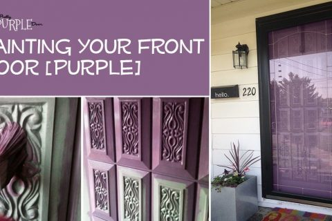 Paint Your Front Door: My Pretty Purple Door