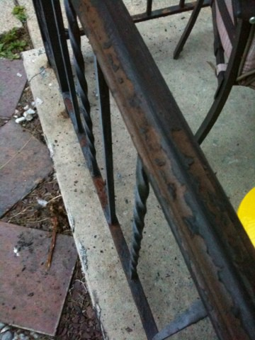 Rusty Wrought Iron Remedy