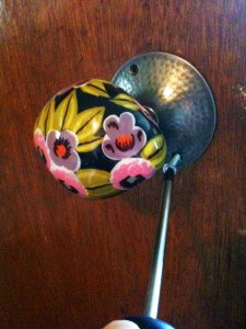 Replacing an interior door knob with a vintage one