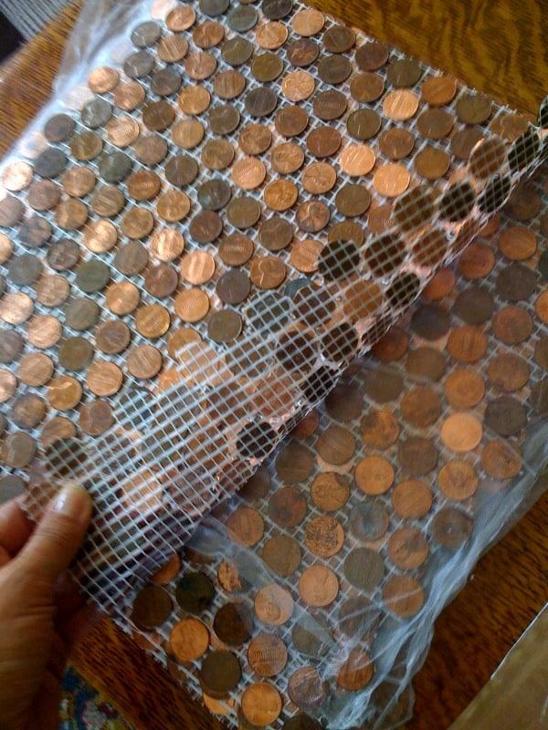Copper penny mosaic floor gurus floor - Incredible uses for copper pennies ...