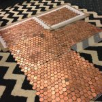 a progress example of some of my mesh penny sheets. I picked really shiny pennies and faced the heads in the same direction because I'm completely insane :)