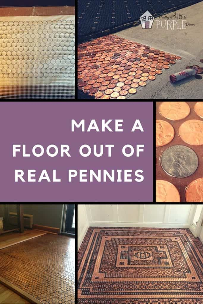 Make a Penny Floor Out of Real Pennies