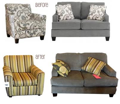 Matching Sofa And Loveseat Ashley Fresco Antique Durablend And Fabric 2 Pc Sofa With Loveseat