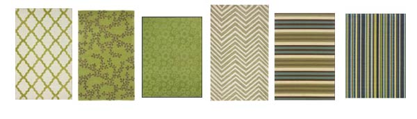 Rug options for mixing and matching furniture