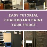 chalkboard paint your fridge tutorial