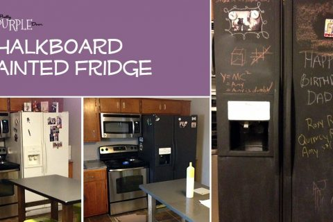 Chalkboard Refrigerator: I painted my refrigerator with chalkboard paint.