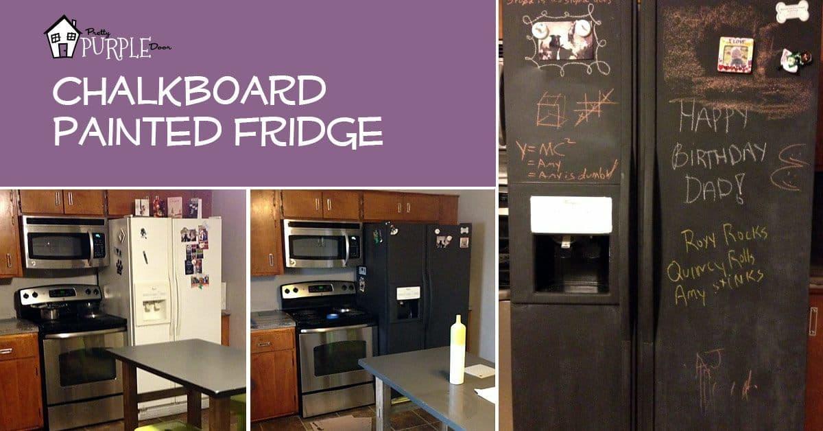 Chalkboard Refrigerator Diy Tutorial Pretty Purple Door