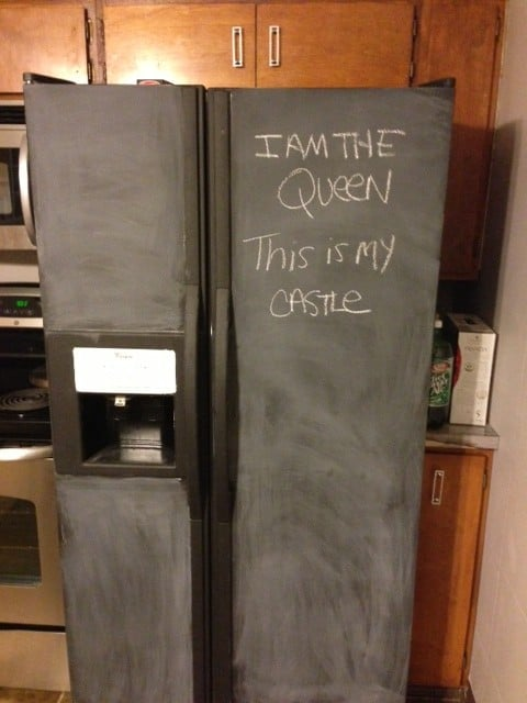 Chalkboard Refrigerator Diy Tutorial Pretty Purple Door