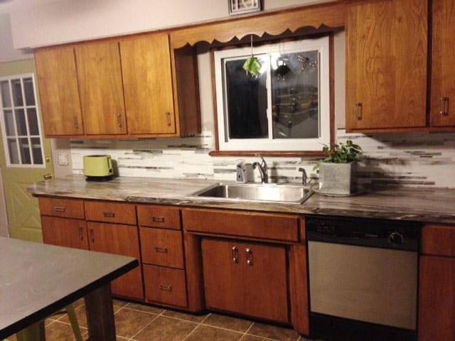 kitchen renovation part 6 backsplash tile pretty purple door