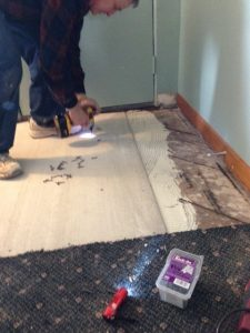 building subfloor for penny floor installation