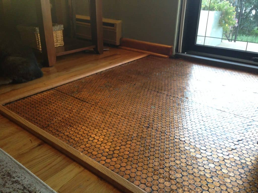 Copper Penny Floor Part 4 Of 4 Sealing The Floor