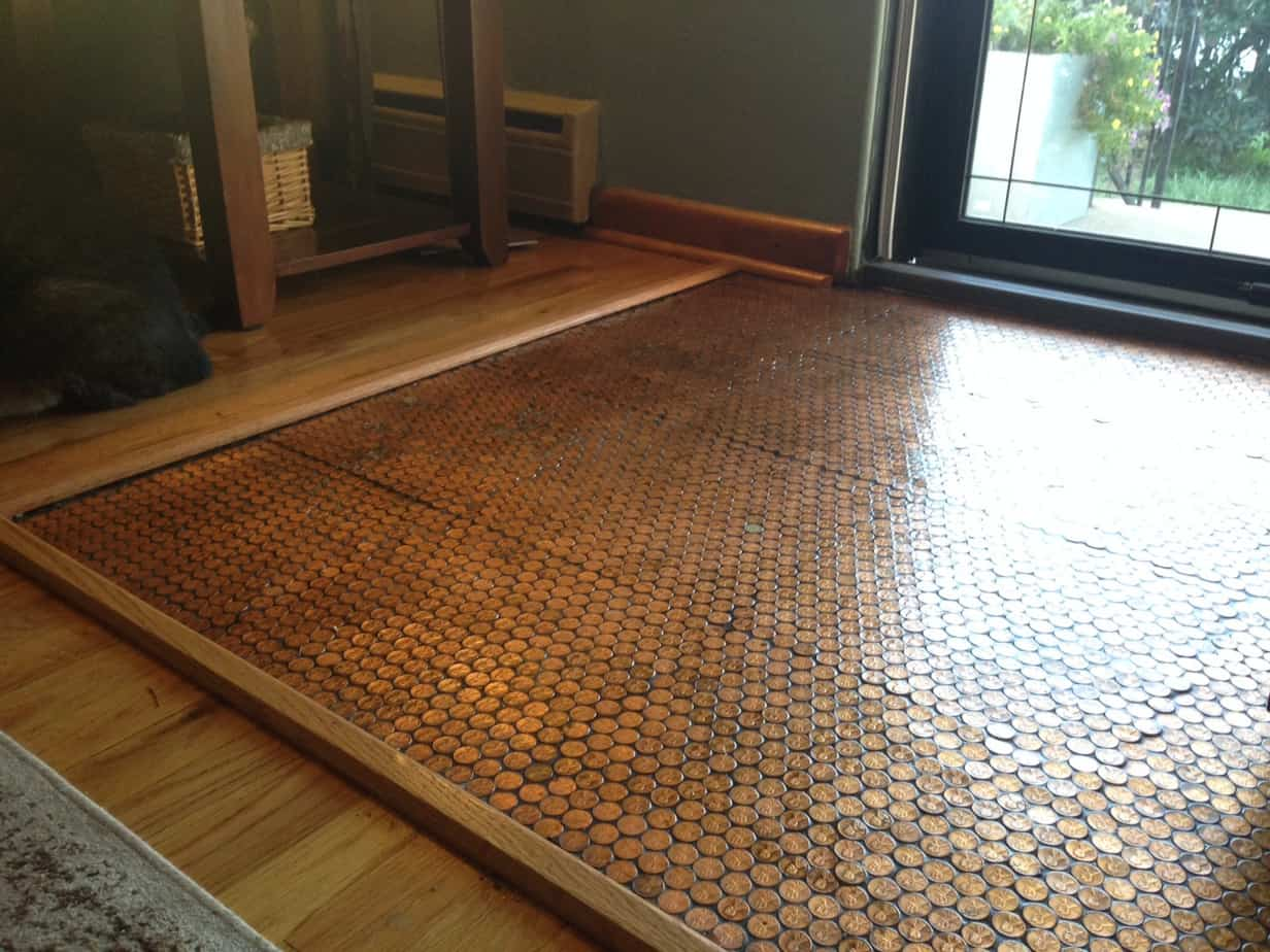 Copper penny floor part 4 of 4 sealing the floor for At floor or on floor