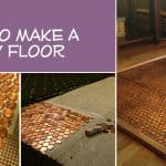 Copper Penny Floor Template (Part 2 of 4): How-To #pennyfloor