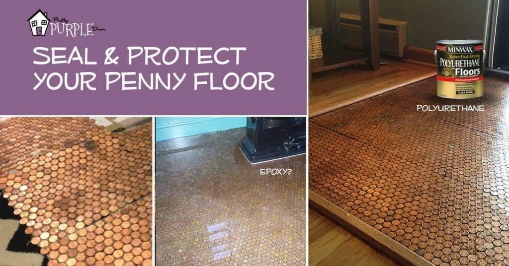 Seal Penny Floor PrettyPurpleDoor.com