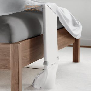 This bedfan Circulates air under the sheets to disperse built-up body heat and keep you comfortable all night long.
