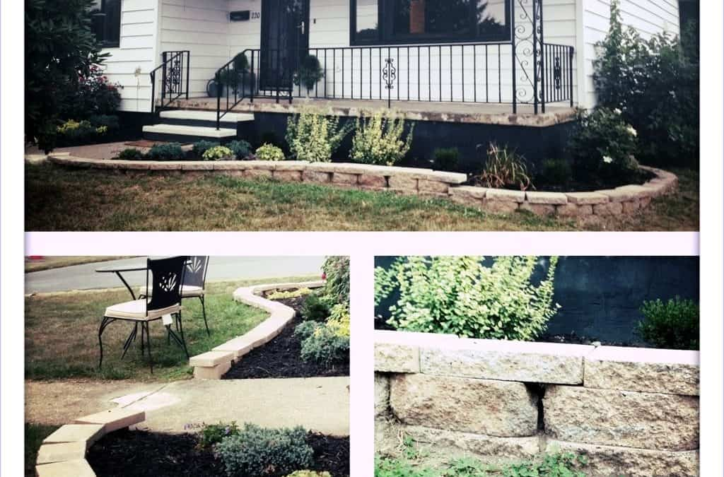 stone edging collage
