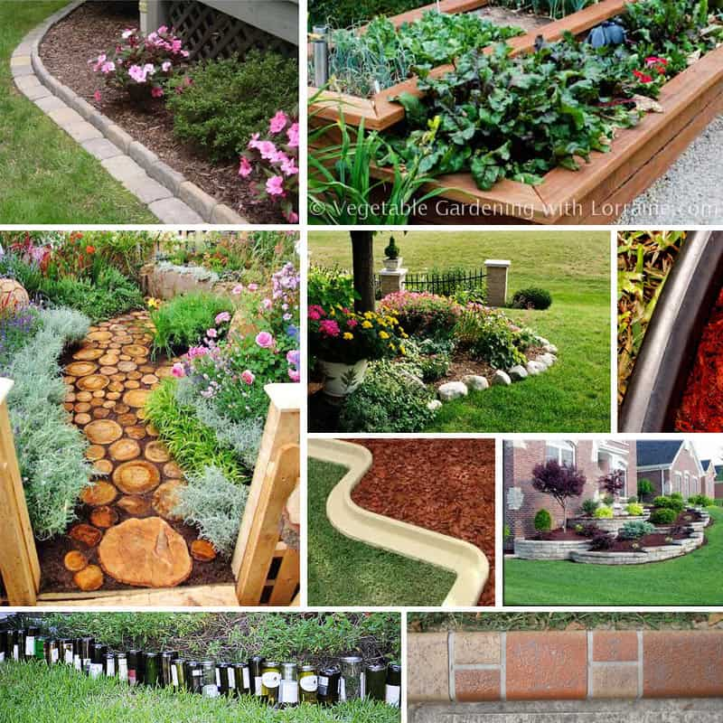 Diy stone garden edging best idea garden for Diy garden borders