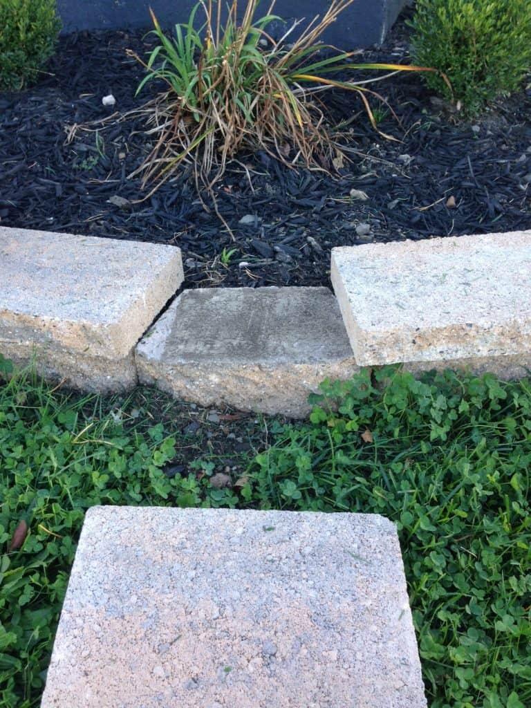 set the adjacent stone caps first