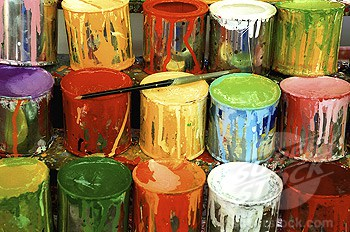 mason jar paint storage: before