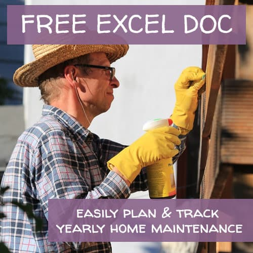 FREE Home Maintenance Planner Excel Document