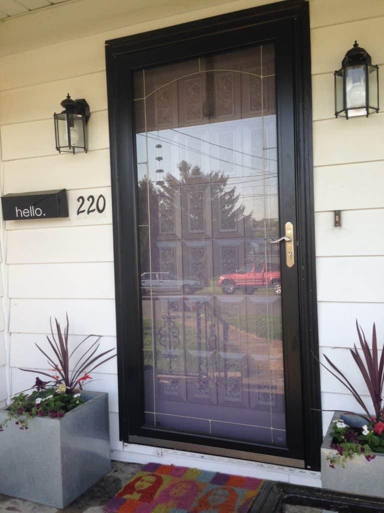 paint porch sconces: front porch