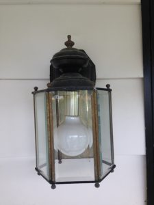 porch sconce before