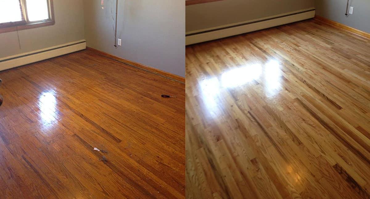 refinishing hardwood floors: bedroom
