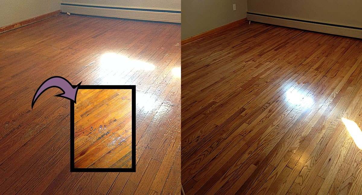 Refinishing hardwood floors : Pretty Purple Door