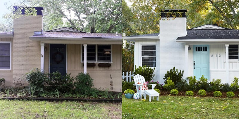 10 Before and After Curb Appeal Photos