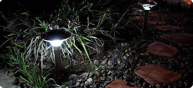 solar lighting path lights