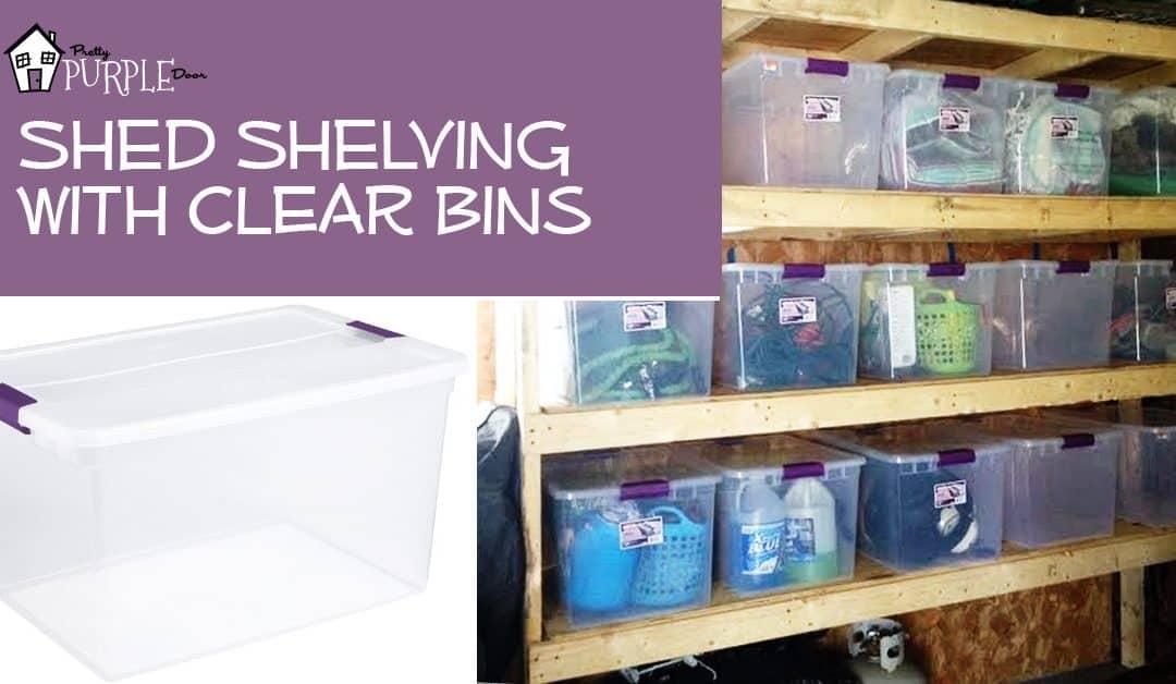 shelving using bins