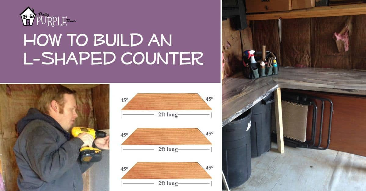 Build an L-Shaped Counter, PrettyPurpleDoor.com