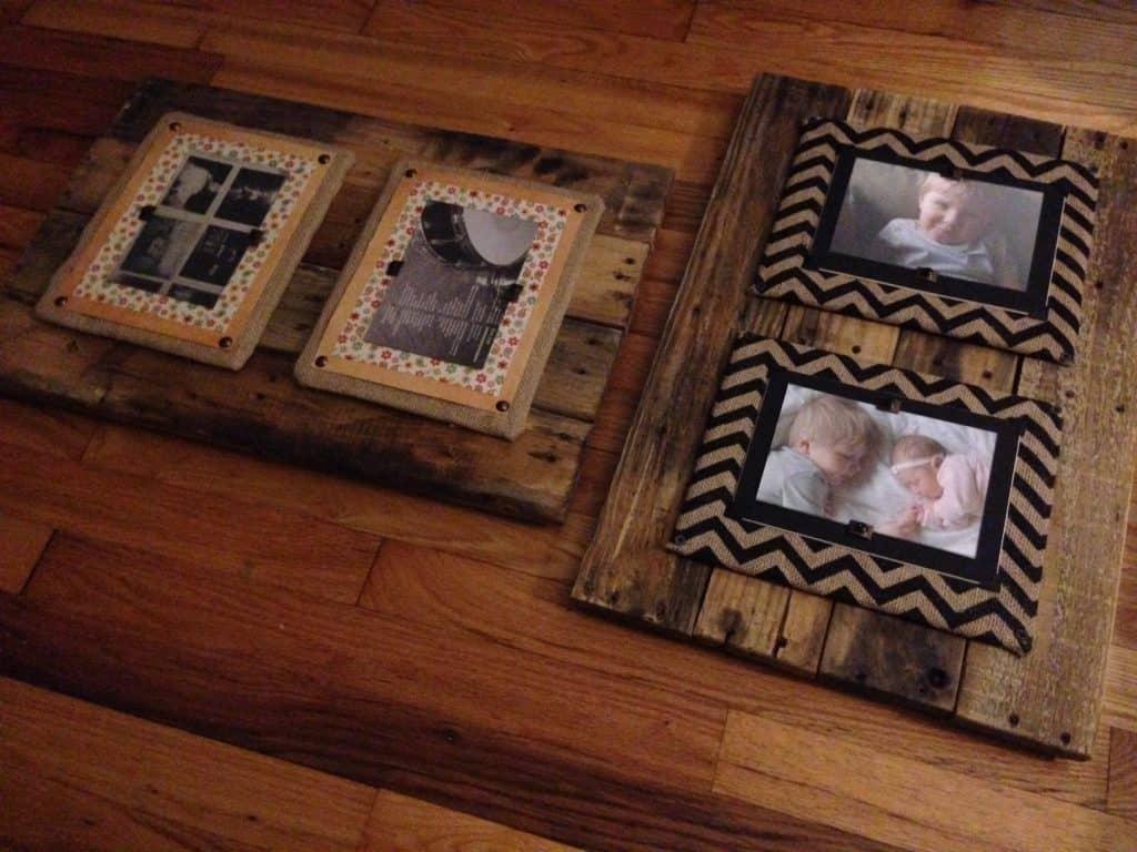 Rustic Pallet Frames by PrettyPurpleDoor.com