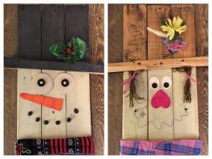 Reversible Pallet Door Hanger by PrettyPurpleDoor.com