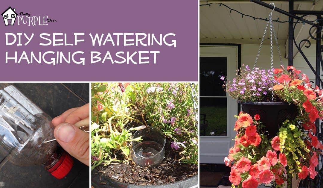 DIY Self Watering Hanging Basket