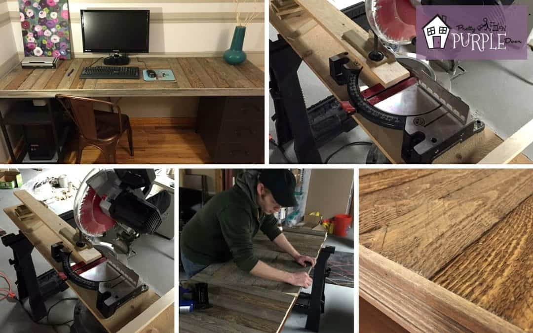 How to Build a Reclaimed Wood Pallet Desk Top