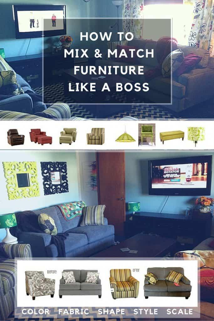 mix and match furniture like a boss
