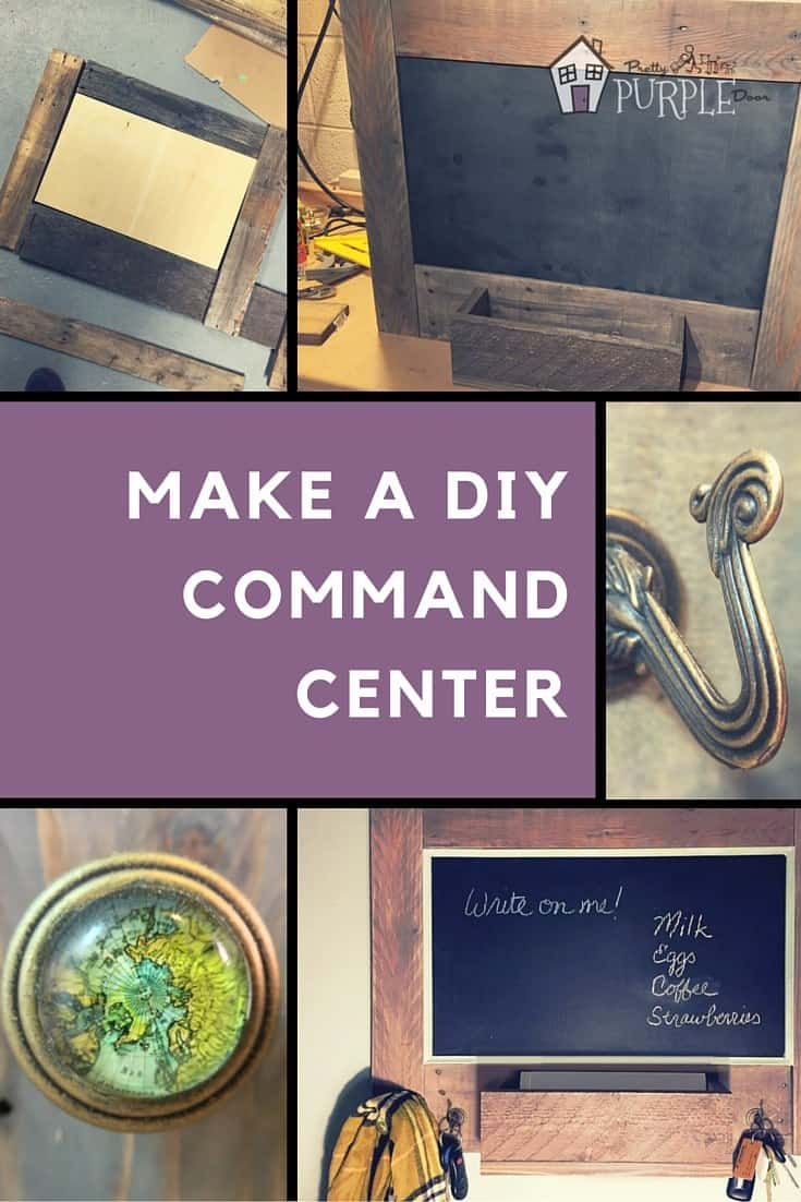 DIY Command Center Pinterest Collage Image