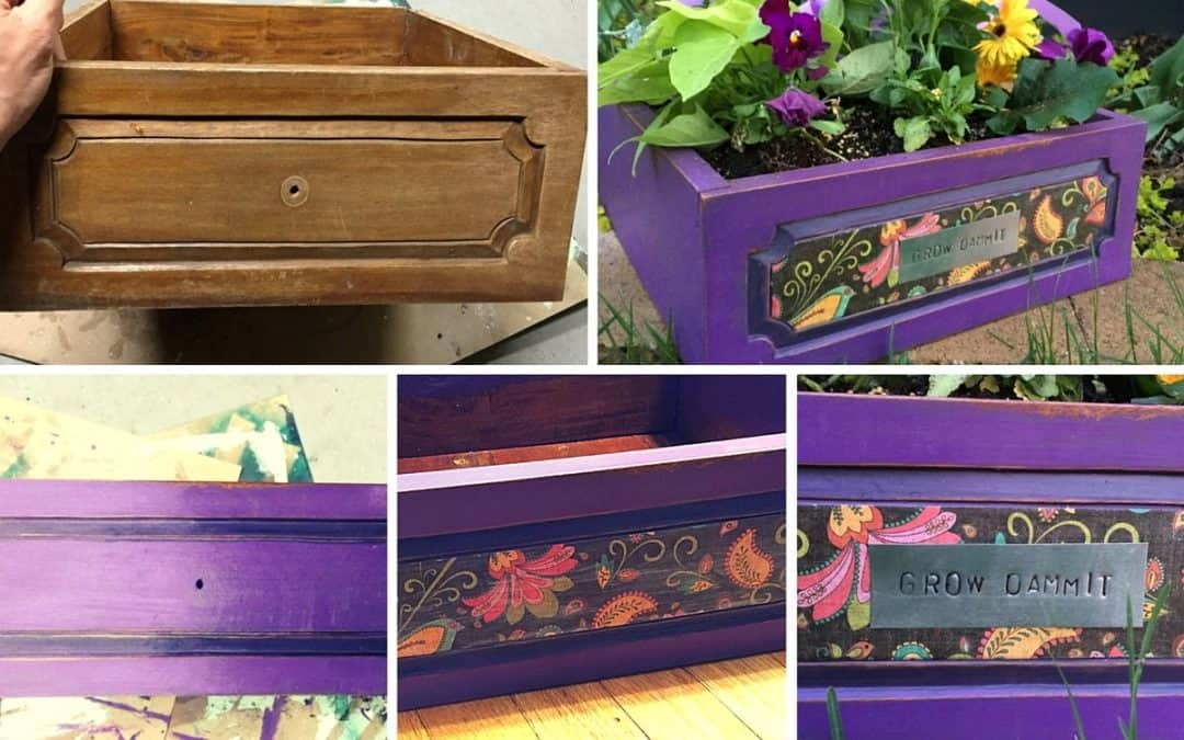 From old drawer to whimsical planter in an afternoon!