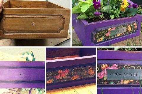 Cool DIY Projects – Old Drawer Becomes a Planter