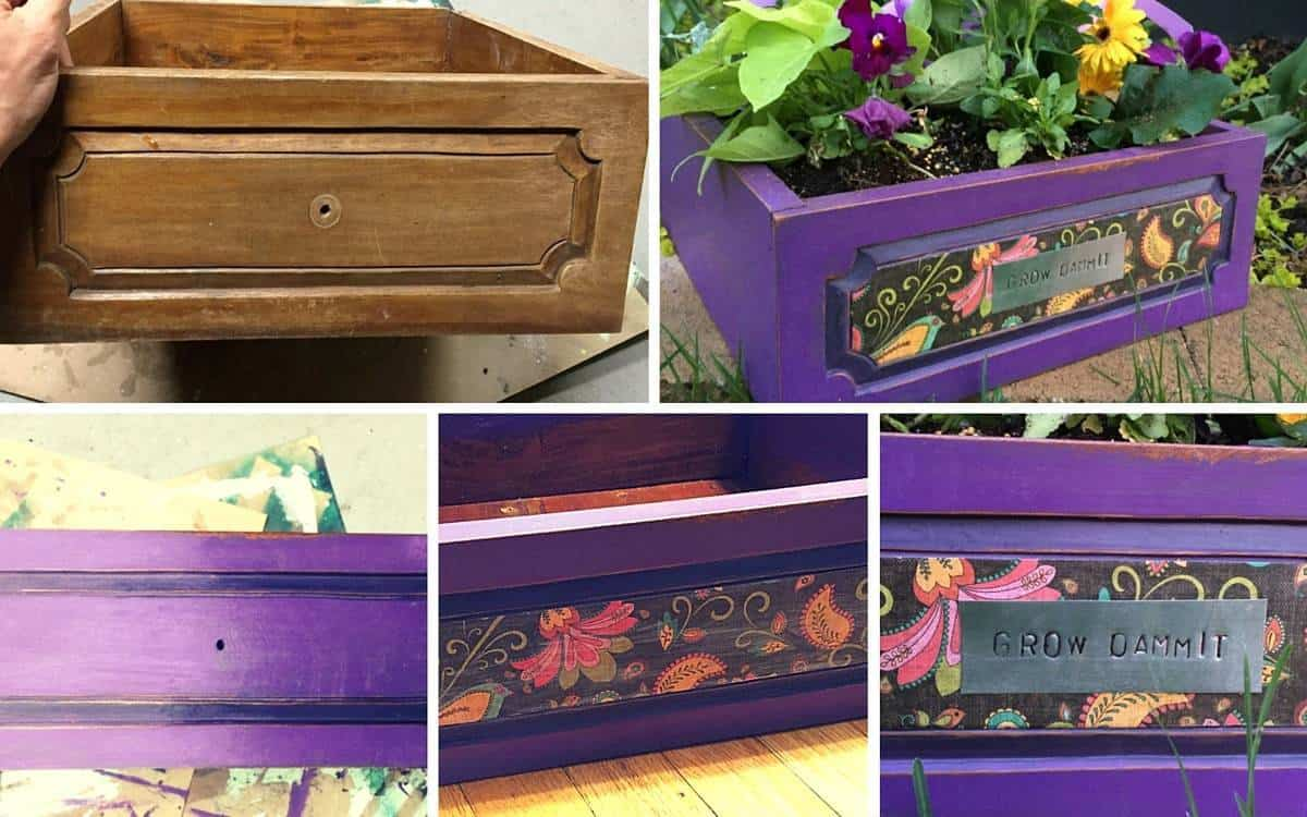 Cool DIY Projects - How to Make Planters from Old Drawers