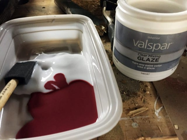 Staining Wood with color - just add Clear Mixing Glaze to your paint