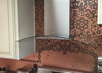 Carolyn's Creative Penny Backsplash