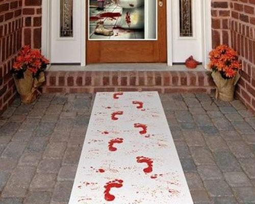 DIY Halloween project Bloody Crime Scene Runner