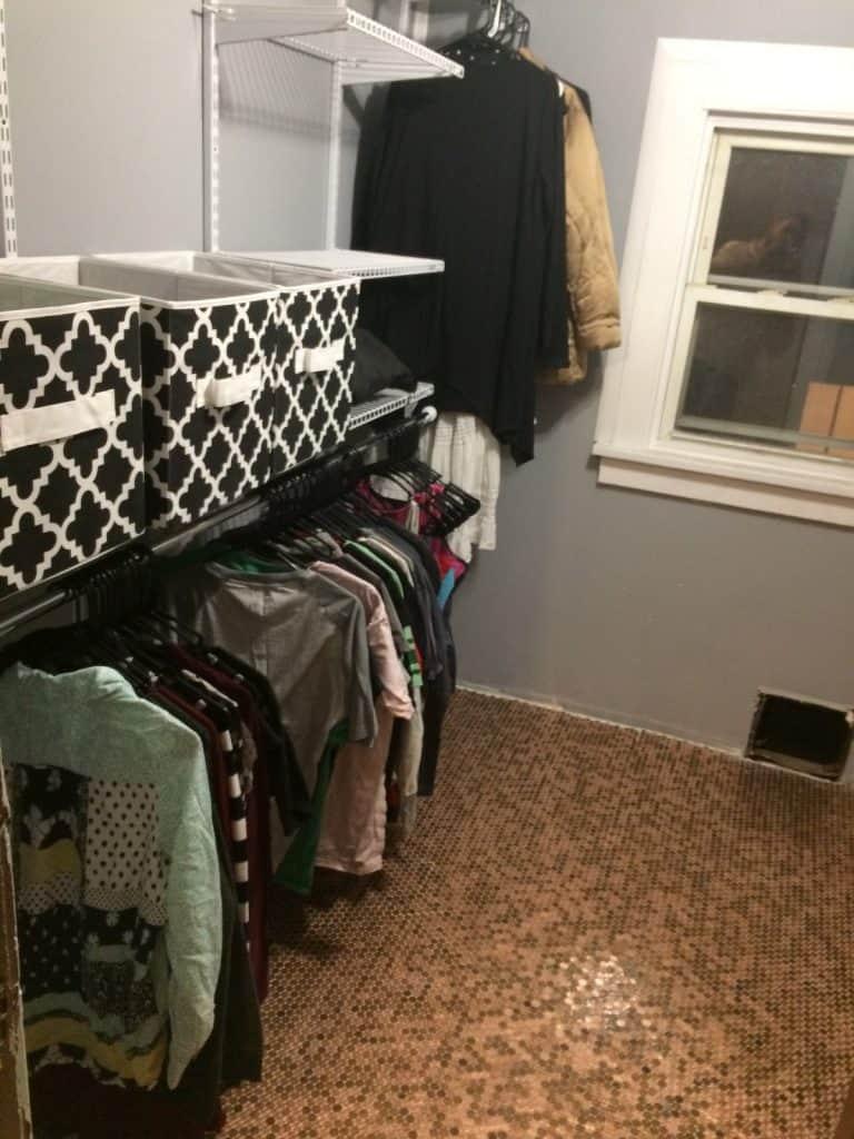 Penny Floor Walk in Closet
